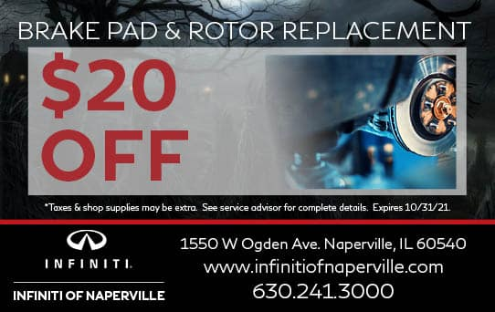 Brake Pad & Rotor Replacement Special   INFINITI of Naperville