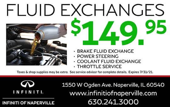 Fluid Exchanges Special | INFINITI of Naperville