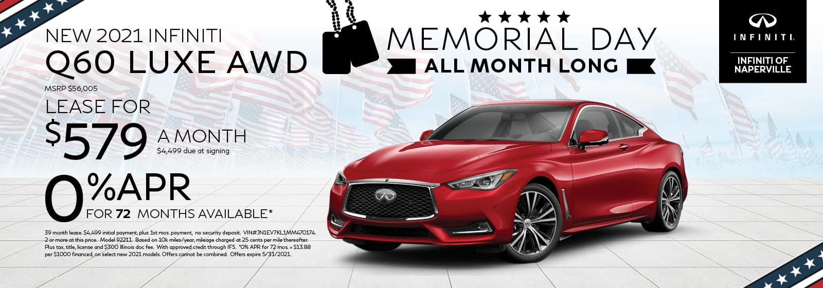 2021 INFINITI Q60 Lease or Finance Offer | INFINITI of Naperville