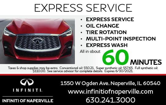 Express Service Special   INFINITI of Naperville