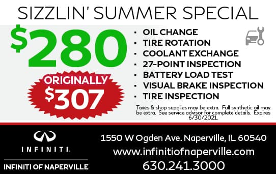 $280 Sizzlin' Summer Special   INFINITI of Naperville