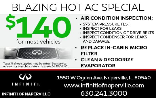 $140 Blazing Hot AC Special   INFINITI of Naperville