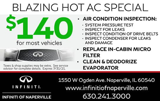 Blazing Hot AC Special | INFINITI of Naperville