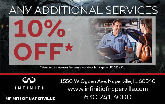 10% Off Any Additional Services   INFINITI of Naperville