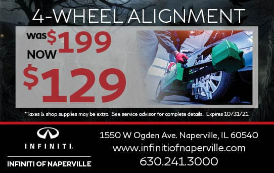Wheel Alignment Special   INFINITI of Naperville