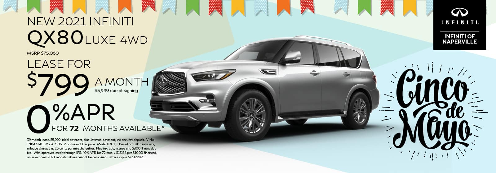 2021 INFINITI QX80 Lease or Finance Offer | INFINITI of Naperville