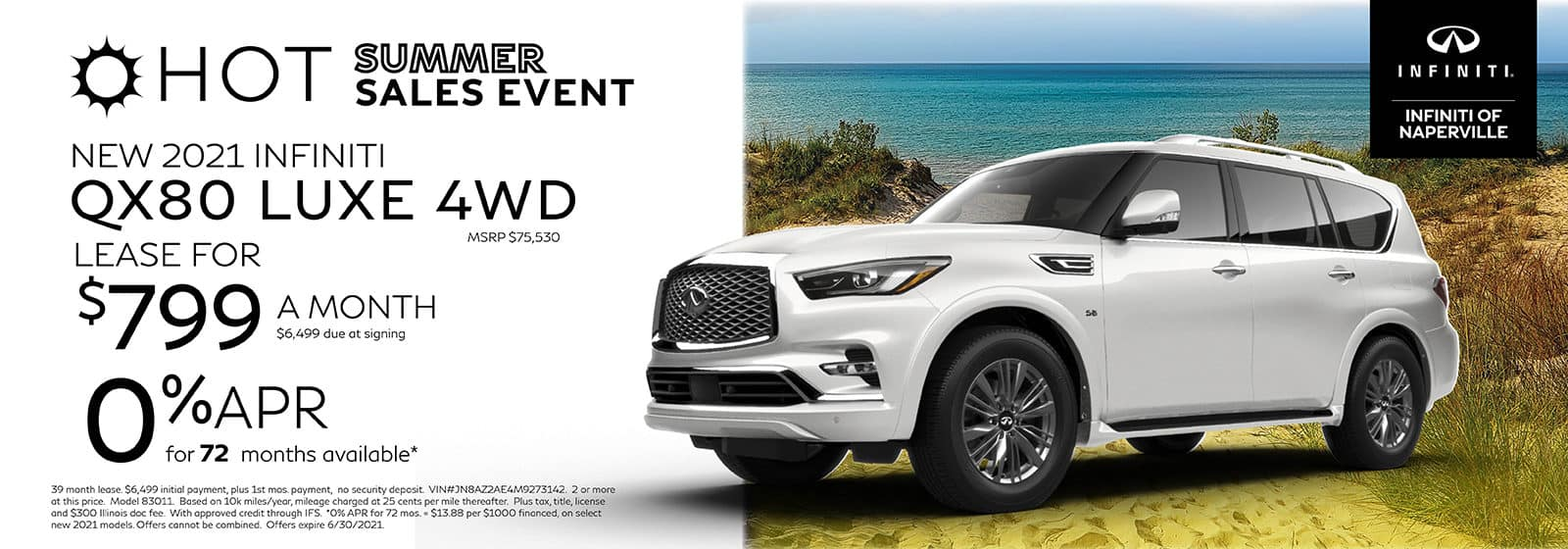 2021 INFINITI QX80 Lease or Finance Offer   INFINITI of Naperville