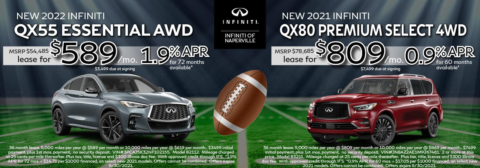 2022 INFINITI QX55 and 2021 INFINITI QX80 Lease Offers | INFINITI of Naperville