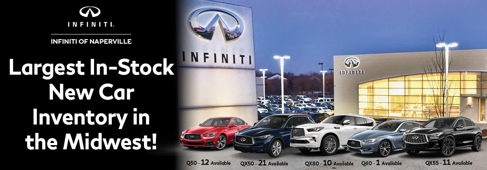 Largest New In-Car Inventory | INFINITI oF Naperville