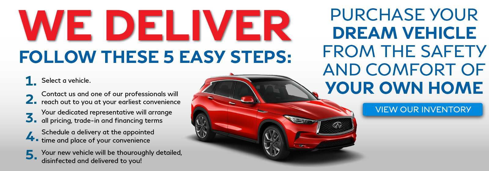We deliver! Click to view our inventory.