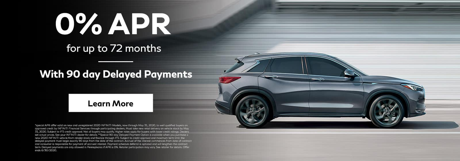 0% APR for 72 mos
