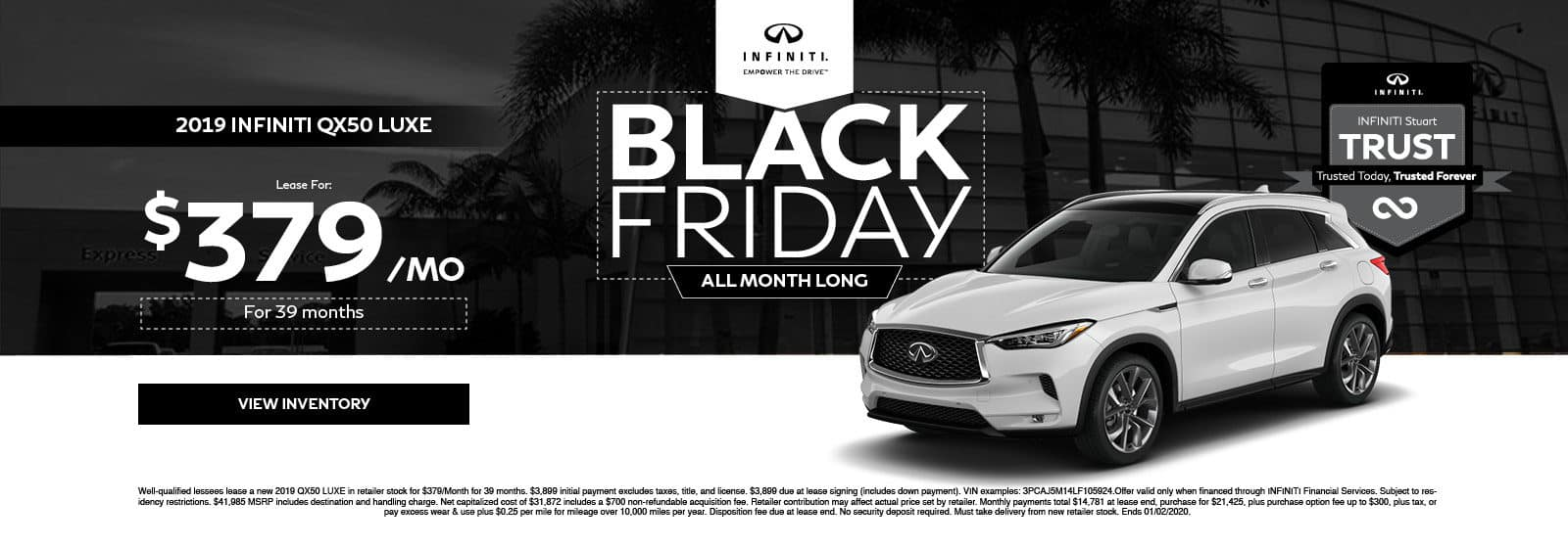 INFINITI Stuart QX50 Black Friday Special