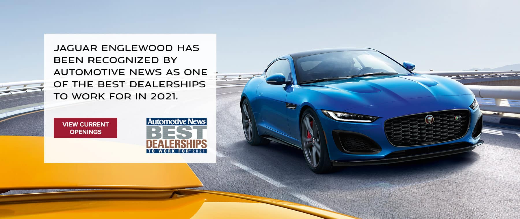 Jaguar Englewood has been recognized by Automotive News as one of the Best Dealerships to Work For in 2021.