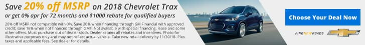 Jim Taylor Chevrolet Buick November Offer Trax