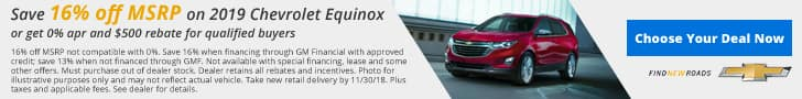 Jim Taylor Chevrolet Buick November Offer Equinox