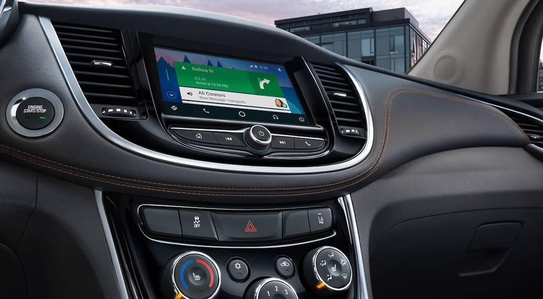 Infotainment display in 2019 Chevrolet Trax