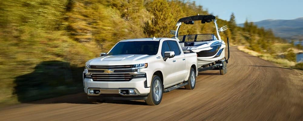 A 2020 Chevy Silverado 1500 Towing a Boat