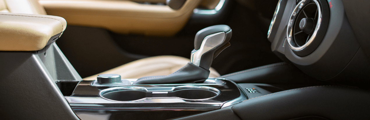 Close up shot of the center console in a 2020 Chevy Blazer