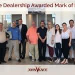 John Vance Mark of Excellence