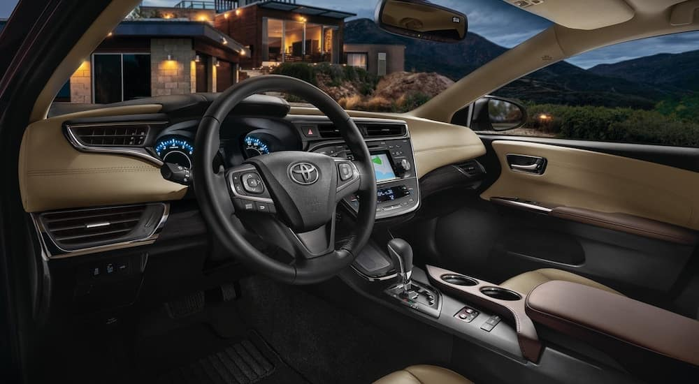 Leather interior of the 2018 Toyota Avalon in Ohio