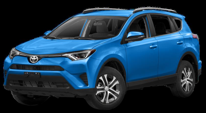 A bright blue 2018 Toyota RAV4 from Joseph Toyota