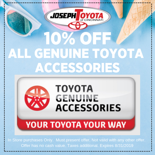 Genuine Toyota Parts >> Toyota Parts Specials Fairfield Joseph Toyota Of Cincinnati
