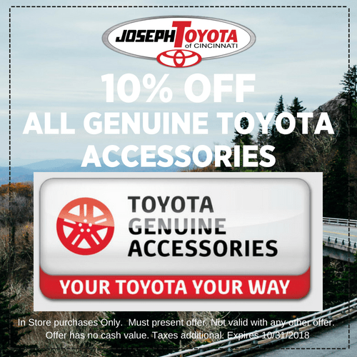 SeptOct 10% off all Genuine Toyota Accessories