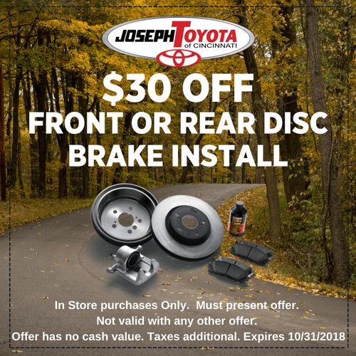 SeptOct $30 Off Brake Install