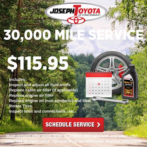SeptOct 30,000 MILE SERVICE