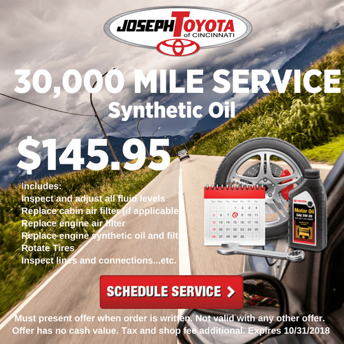 30,000 Mile Service Synthetic Oil