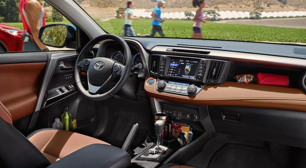 High tech interior of a Toyota SUV
