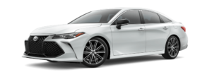 White 2019 Toyota Avalon on white background