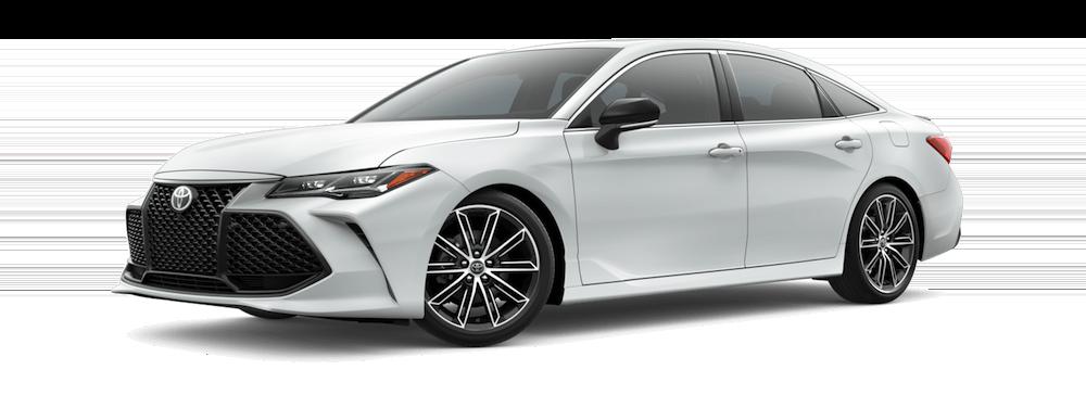 White 2019 Toyota Avalon on white background