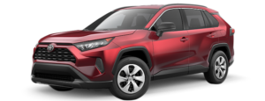 A red 2019 Toyota RAV4 from Joseph Toyota