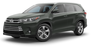 Dark Green 2018 Toyota Highlander on white
