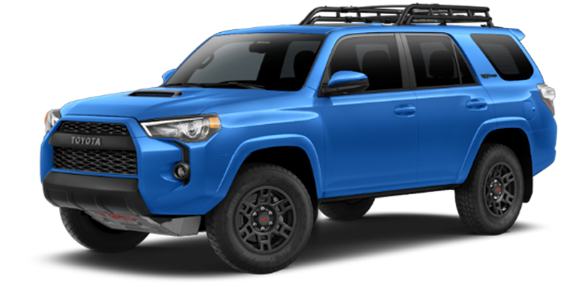 A bright blue 2019 Toyota 4Runner TRD Pro from Joseph Toyota of Cincinnati