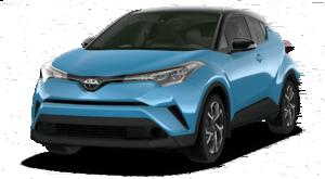 A blue 2019 Toyota C-HR