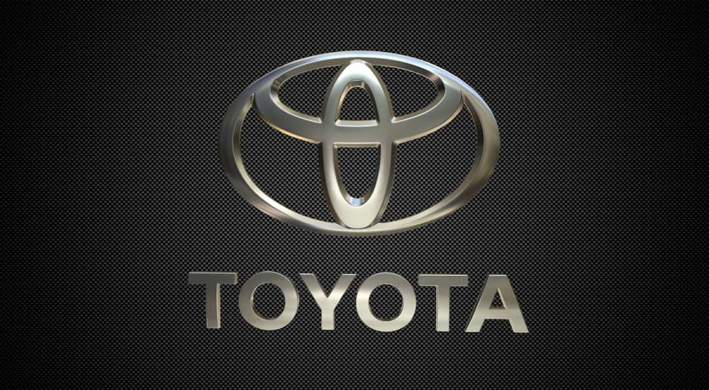 Toyota Logo against cage background