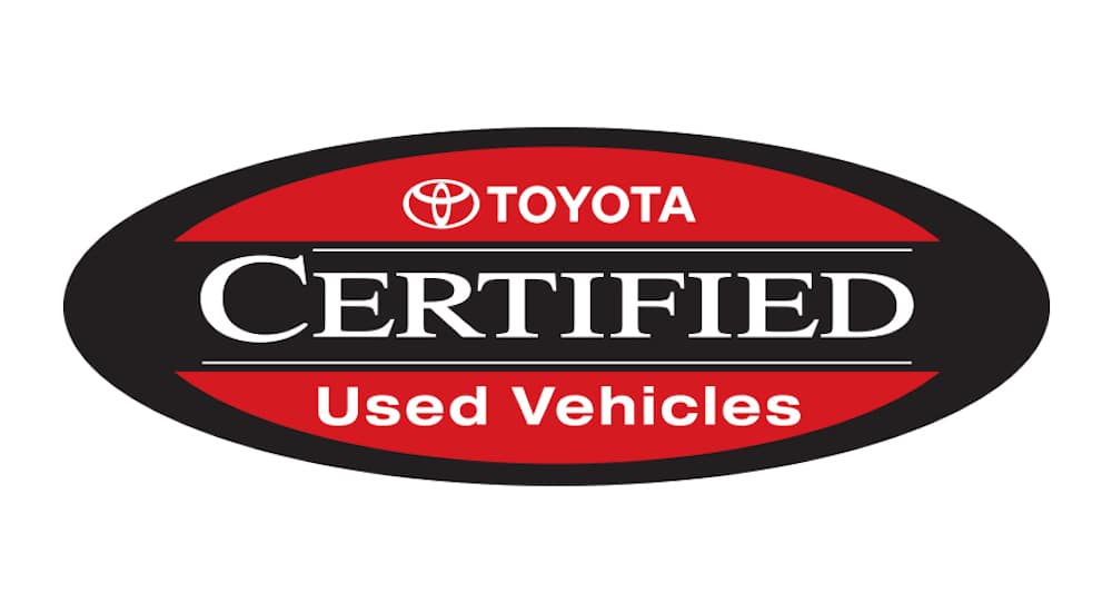 The logo for Toyota certified pre-owned vehicles at Joseph Toyota
