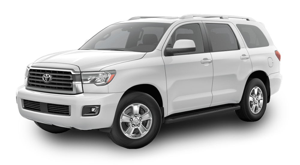 A White 2019 Toyota Sequoia on white