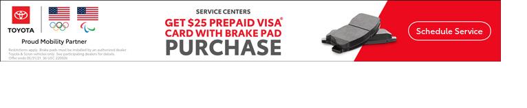 Visa with Brake purchase.