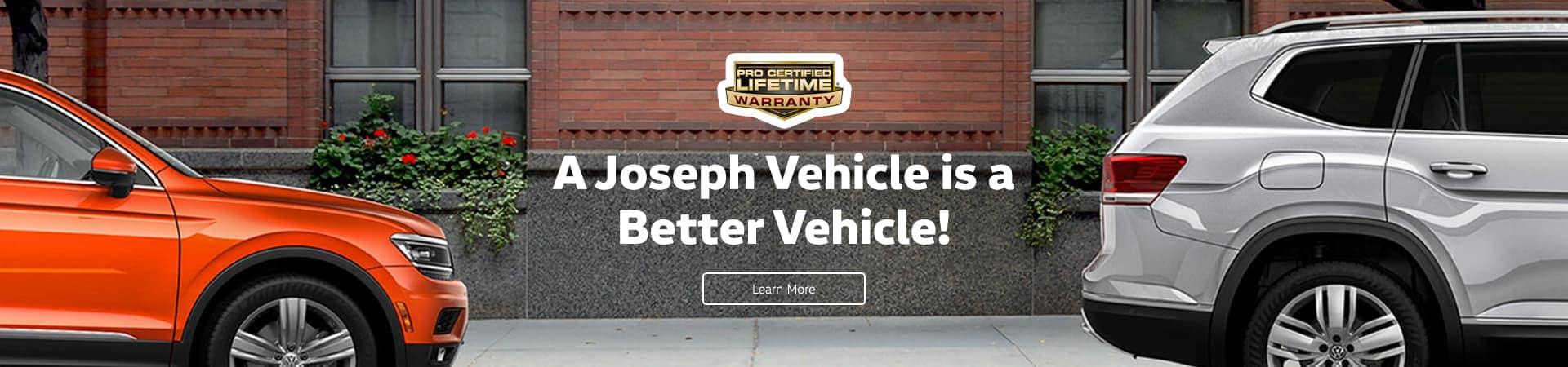 A Joseph Vehicle Is A Better Vehicle   Joseph Volkswagen of Cincinnati   Cincinnati, OH