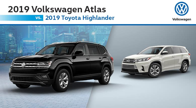 Volkswagen Atlas Vs Toyota Highlander