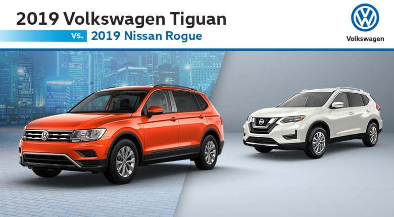 2019 VW Tiguan vs. Nissan Rogue