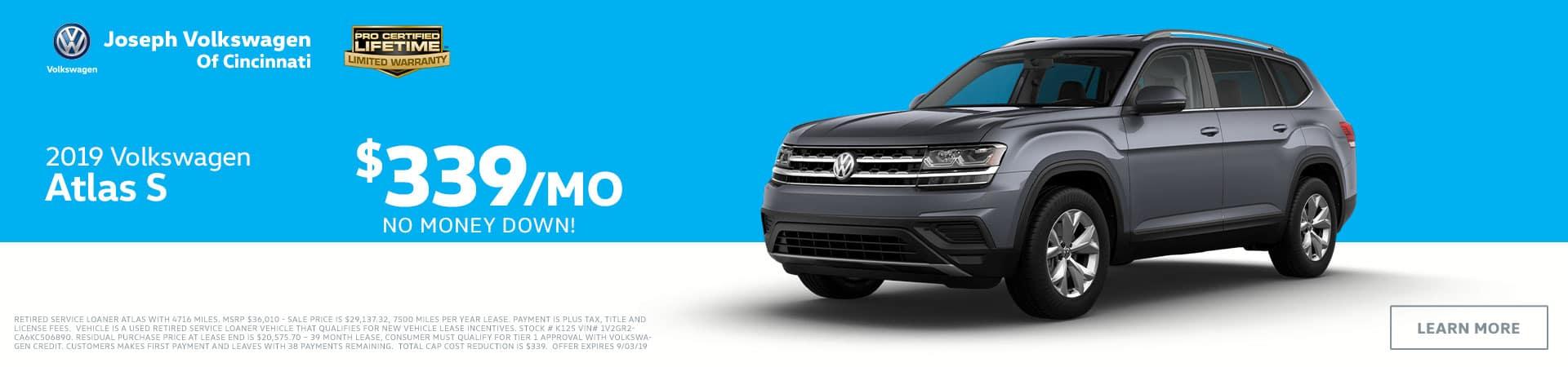 2019 Volkswagen Atlas in Cincinnati, OH