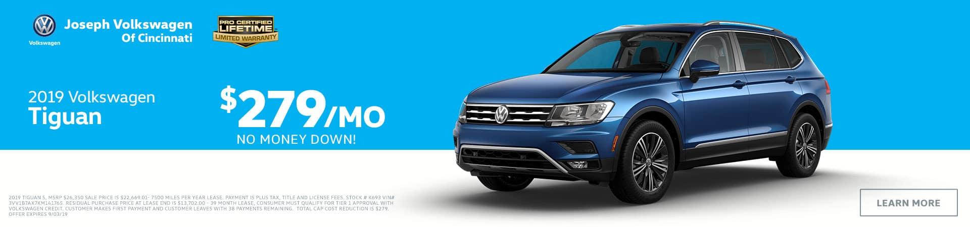 2019 Volkswagen Tiguan in Cincinnati, OH