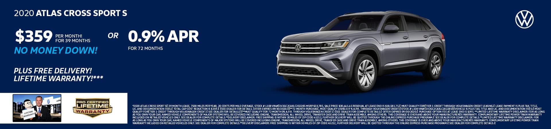 New 2020 Volkswagen Atlas Cross Sport   Cincinnati, OH