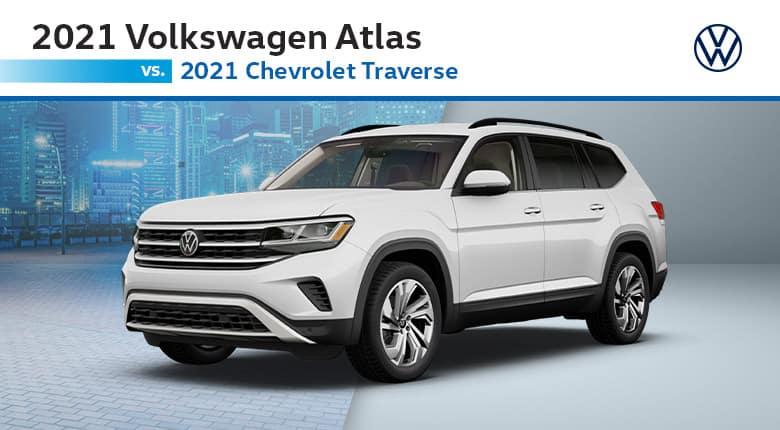 2021 Volkswagen Atlas vs 2021 Chevrolet Traverse | Joseph Volkswagen of Cincinnati | Cincinnati, OH