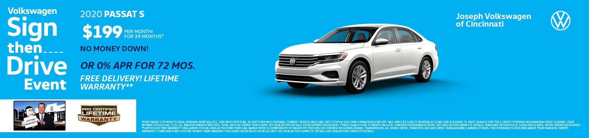 2020 Volkswagen Passat | Joseph Volkswagen of Cincinnati | Cincinnati, OH