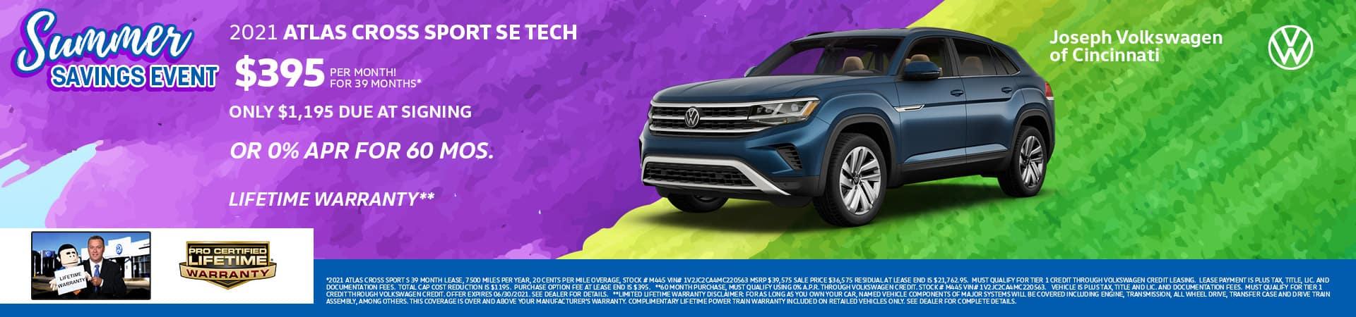 2021 Volkswagen Atlas Cross Sport   Joseph VW   Cincinnati, OH